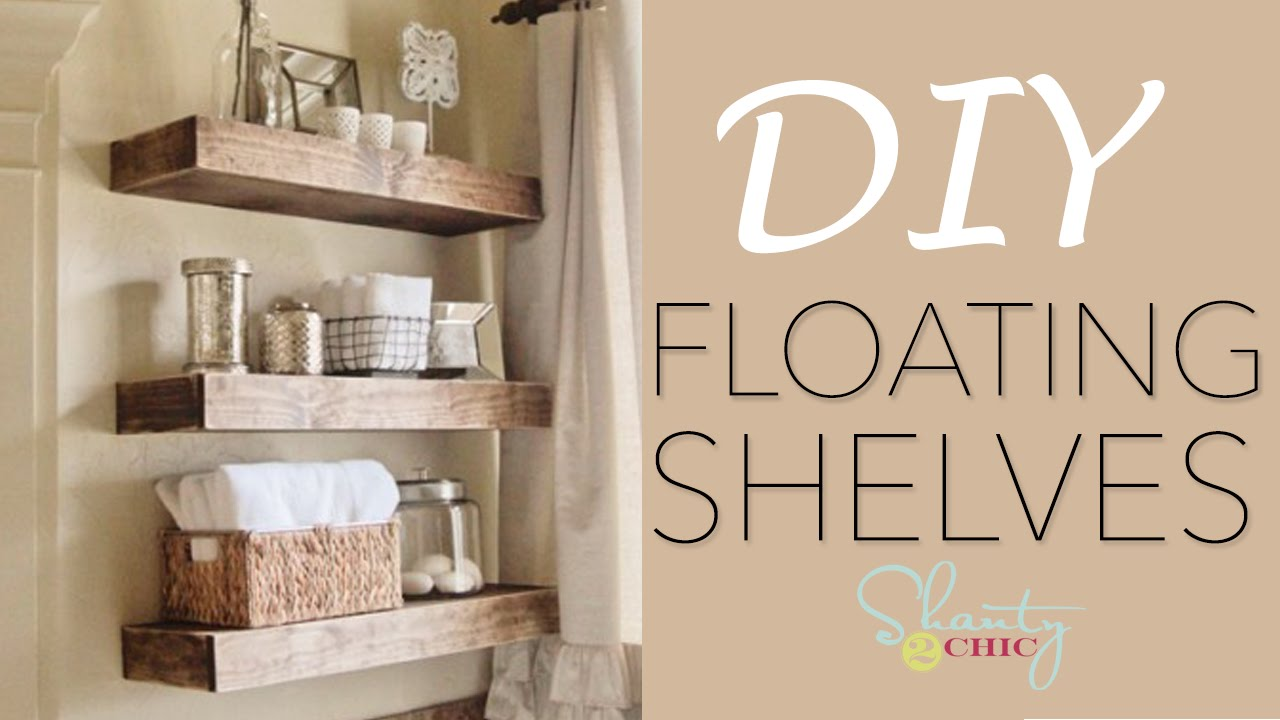 Easy Diy Floating Shelves How To Make Wood Floating Shelves Youtube