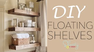 DIY Floating Shelves - How To Make Wood Floating Shelves