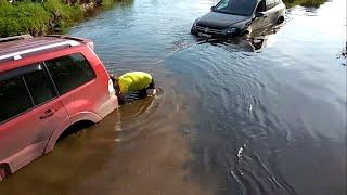Зачем топить машины? Объезд пробки Нижний Новгород-Бор ценой утопленных автомобилей