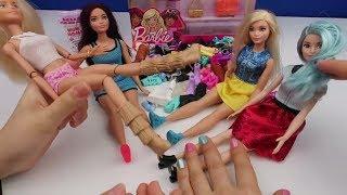 Barbie Ayakkabı Kombin Challenge. Yeni Kutu Açılımı Barbie Bebekler Ayakkabı Deniyor Bidünya Oyuncak