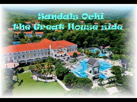 Sandals Ochi - a tour of the Great House side. And a room tour.