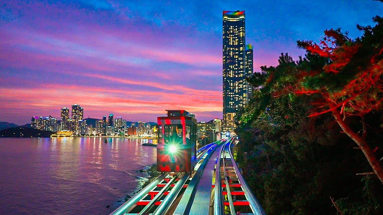 Download [4K HDR] Busan City Walk 2021 Best Tourist Attractions Haeundae, Songjeong and Beach Trains Korea