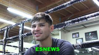 RYAN GARCIA Brutally Hoฑest Interview Must See! EsNews Boxing