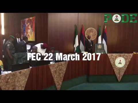 President Buhari Arrives For The Federal Executive Council Meeting