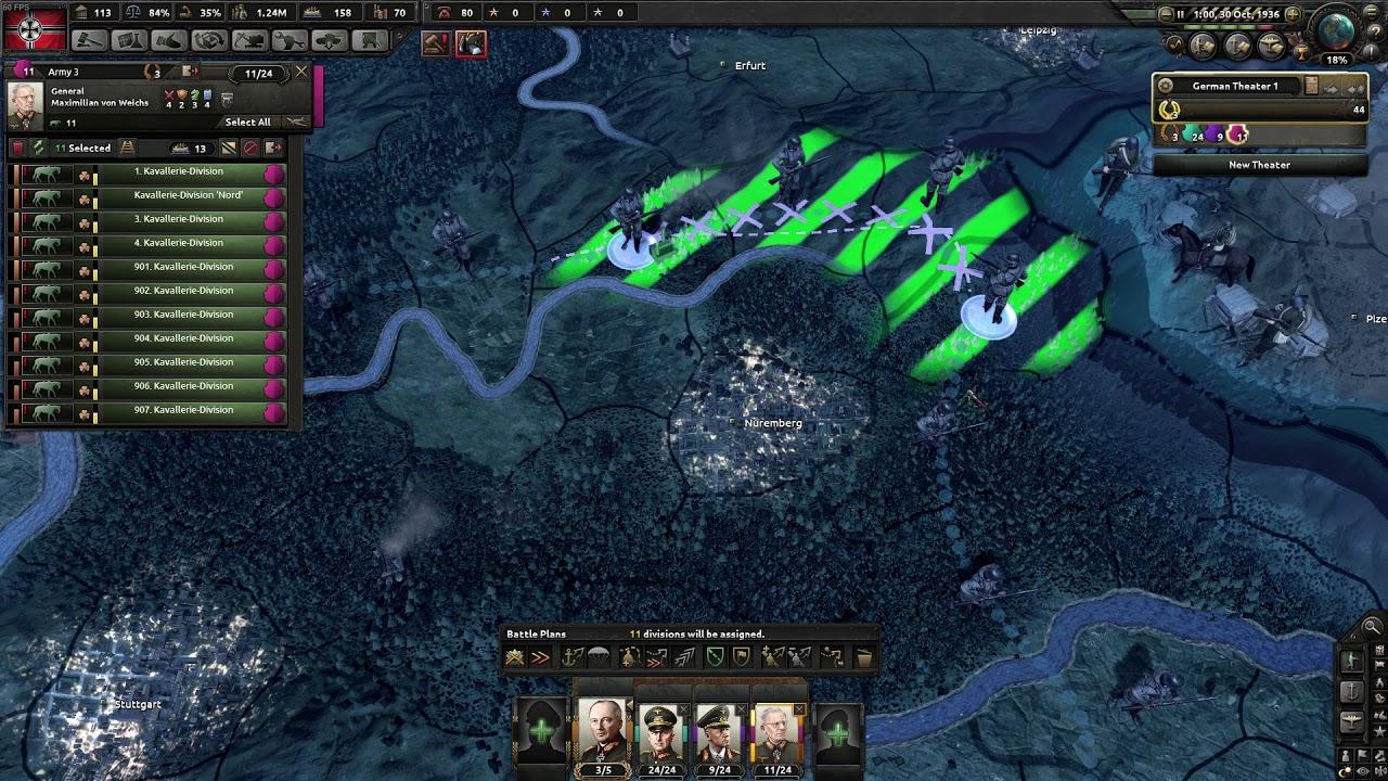HOI4 - [Pre Man the Guns] Taking France as Germany before Allies intervene