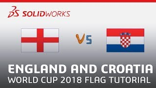 Apps for Kids - World Cup 2018 Flag Tutorial: England and Croatia - SOLIDWORKS