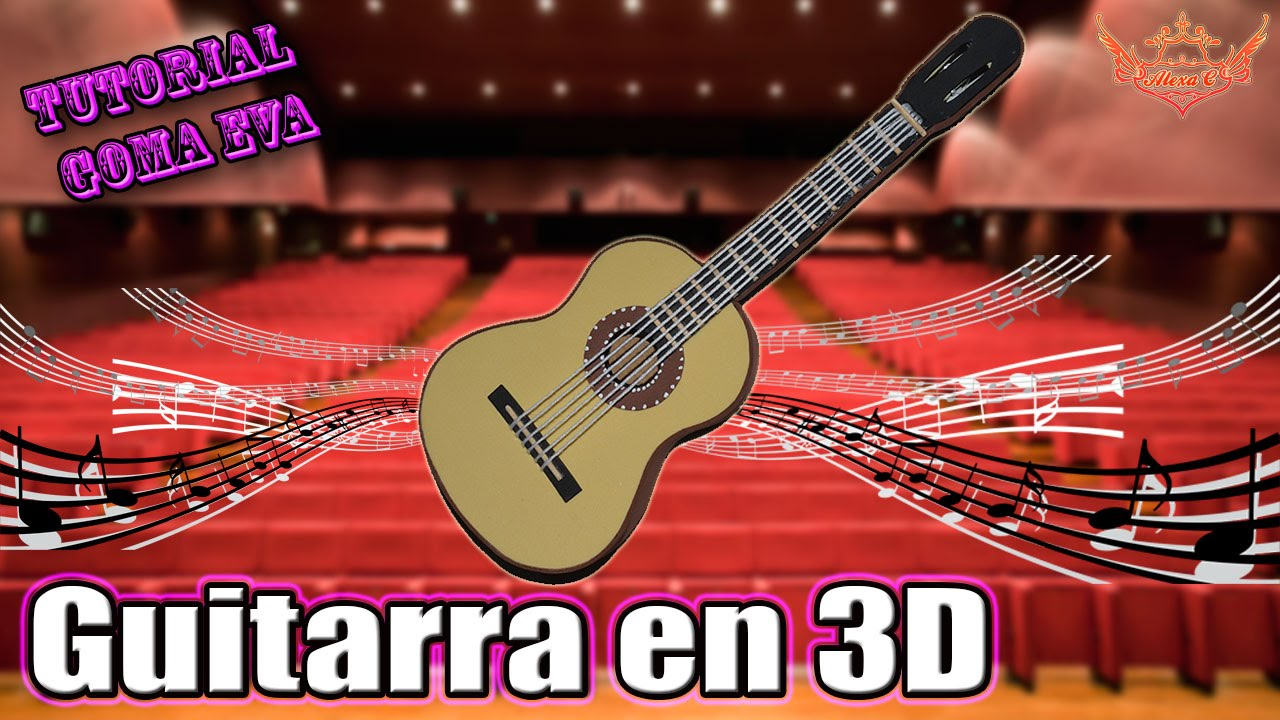 ♥ Tutorial: Guitarra en 3D Goma Eva (Foamy) ♥ - YouTube