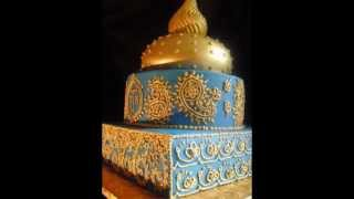 Indian wedding cake lively and happy