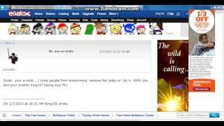 robbieNEC su roblox inviando messaggi lapidari, che lui è un truffatore e un hacker