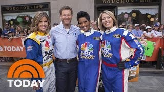 Dale Earnhardt Jr. Coaches Anchors In Nascar Pit Challange | Today