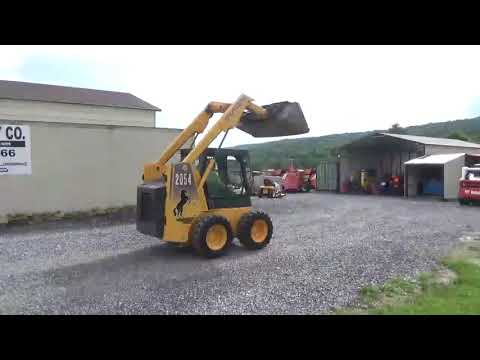 2002 Mustang 2054 Rubber Tire Skid Steer Loader Cab Heat Yanmar Diesel For Sale