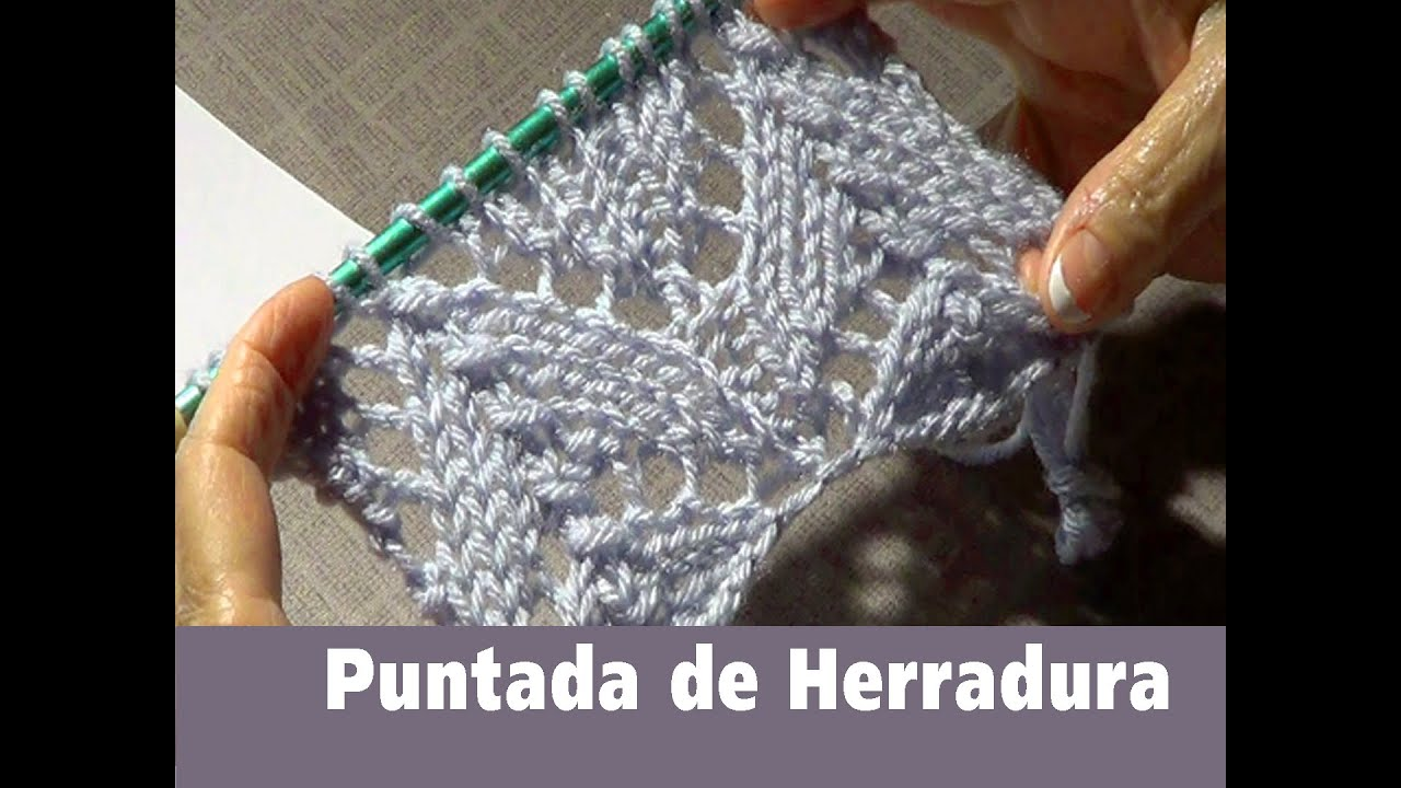 Puntada Tejida de Herradura -Encaje Tejido - YouTube