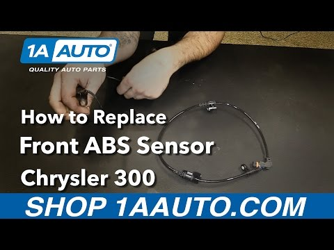 How to Replace Install Front ABS Sensor 08 Chrysler 300