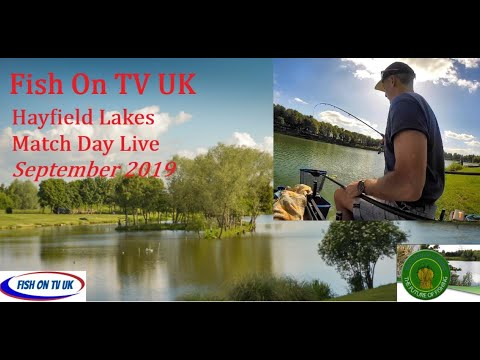 FishOn TV UK.  Hayfield Lakes Match Play Live.  Sept 2019.  S1E1