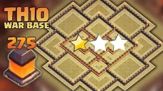 Clash of Clans (CoC) TH10 War Base [Anti 3 Star] w-275 Walls