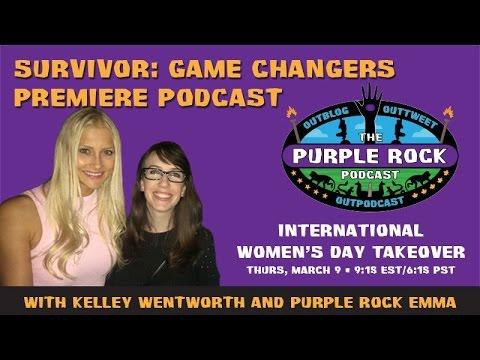 Purple Rock Survivor Podcast - Game Changers premiere with Kelley Wentworth