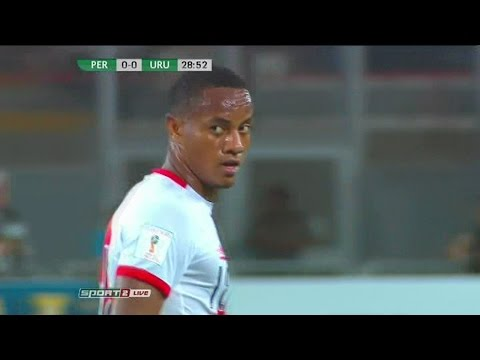 André Carrillo vs Uruguay (Home) World Cup Qualifiers HD