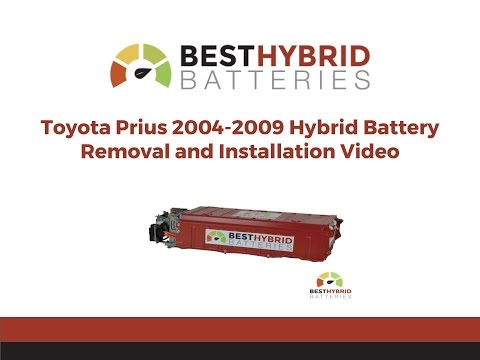 Toyota Prius 2004 2009 Hybrid Battery Removal And Installation Best Batteries