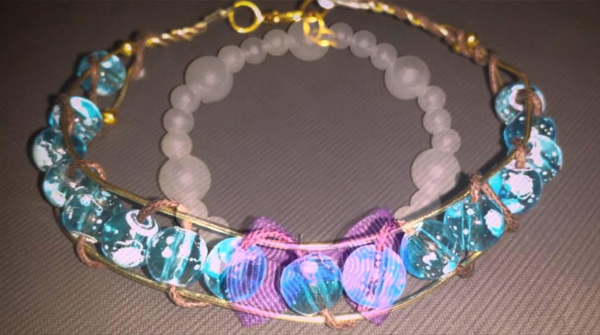 c21922afcf Χειροποίητα κοσμήματα - βραχιόλια με χάντρες!! - YouTube