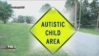 Florida father seeks 'autism child' signs to slow cars