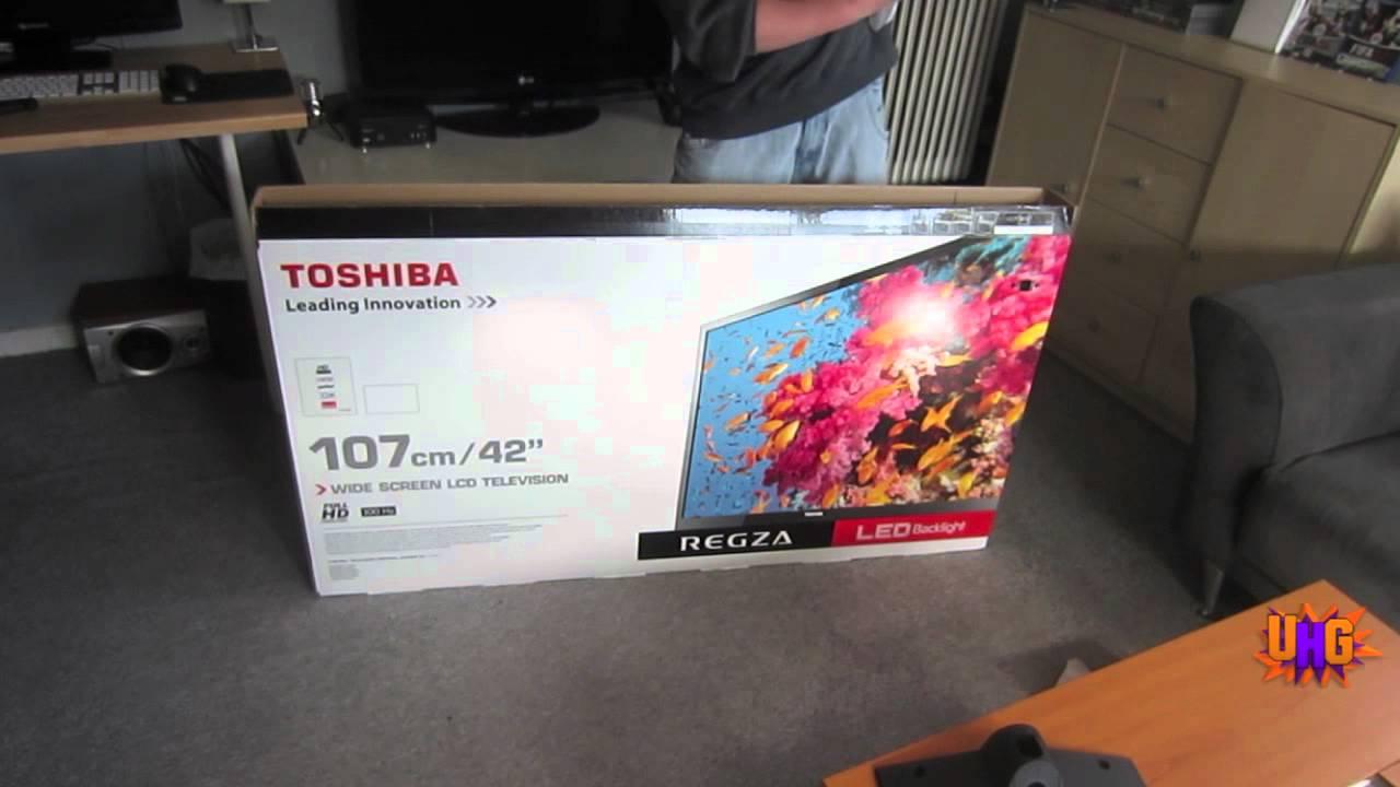 Unboxing Toshiba 42 Led Full Hd Tv Youtube