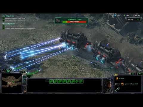 Starcraft 2 Campaign - Mission  The Great Train Robbery (commentated)