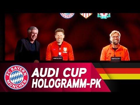 ReLive   Hologramm-Pressetalk zum Audi Cup 2017   FC Bayern