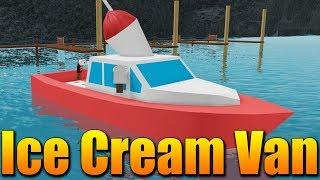 I BOUGHT a BOAT FULL of ICE CREAM! 😱😍🍦 Roblox Ice Cream Van Simulator
