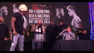 KSI vs LOGAN PAUL LIVE PRESS CONFERENCE UK!! (KSI Logan Paul Boxing)