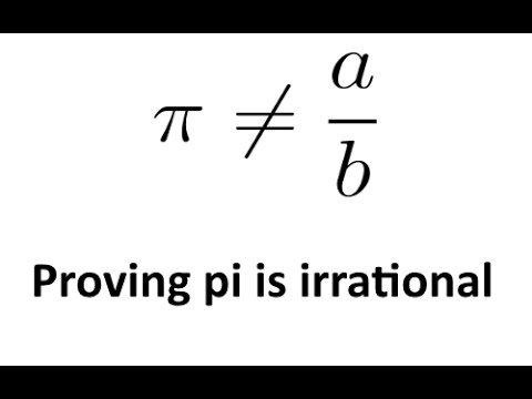Proving pi is irrational (using high school level calculus