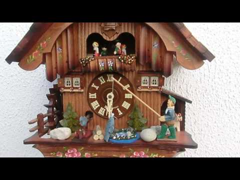Original Black Forest animated musical chalet cuckoo clock