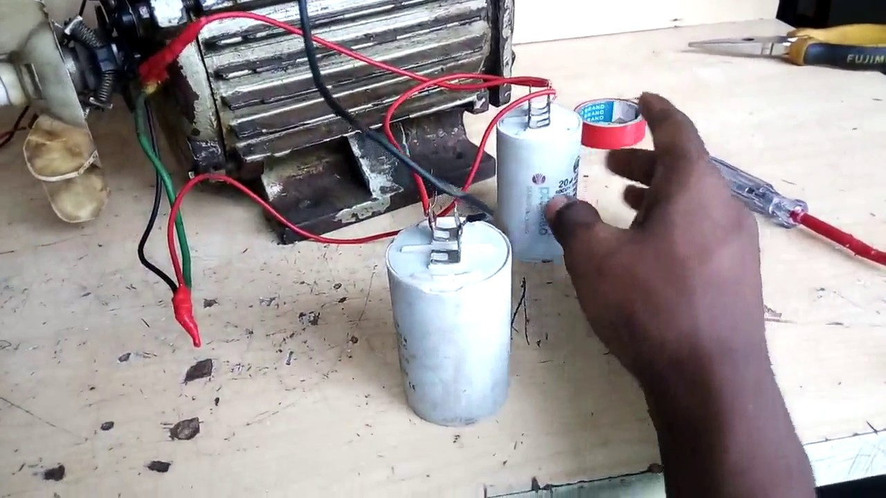 capacitor    start   run motor connection how to connect single phase motor  YouTube