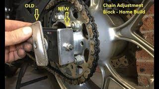 Chain Adjustment Blocks - Home Build - Honda NC750X