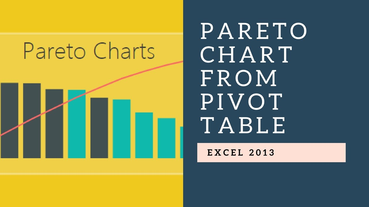 Pareto chart with excel pivot table  charts also youtube rh