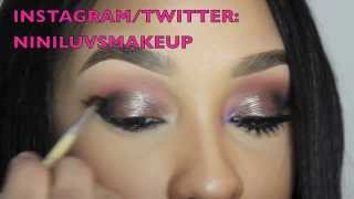 SMOKED OUT REVERSE CATEYE W/ LOWER LASHES: NINILUVSMAKEUP Thumbnail