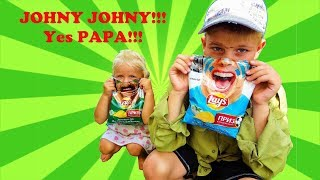 Aprenda cores com Chips for Kids e Johny Johny Sim PaPa Nursery Rhymes & Kids Songs