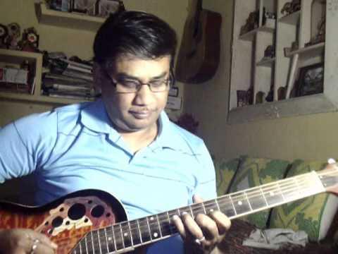 Badlon mein chup raha hai chand kyun solo on Guitar
