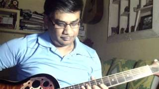 Badlon mein chup raha hai chand kyun solo on Guitar