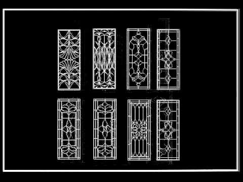 【Autocad Block Download】Chinese Classic grilles glazing design wmv - YouTube