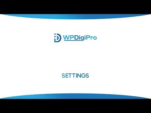 WPDigiPro Settings