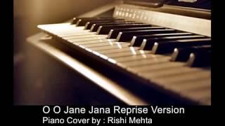 O O Jane Jana Pyar kiya to darna kya | Piano Version | Karaoke