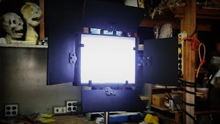 DIY LED Panel Light Build - by Infested Films(Watch as Scott and David build an LED panel light from scratch! MATERIALS: 12v Pre-wired LED bulbs (leftovers from sci-fi film) LED dimmer/flicker switch ..., 2015-09-29T17:53:16.000Z)