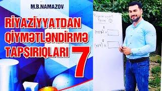 7-ci sini Namazov.İki ifadə cəminin və fərqinin kubu.İki ifadənin kubları cəmi və fərqi A Variant