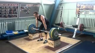 Тяжелая атлетика. 140 кг на грудь с плинтов + толчок..mp4