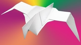 Origami - How To Make A Paper Bird. Video Tutorial.