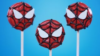 SPIDER MAN COOKIE POPS - NERDY NUMMIES