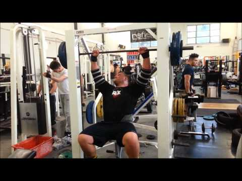 Terry Hollands gym pressing workout 2-7-12