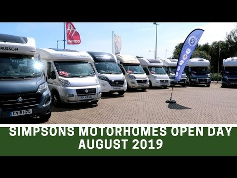 Motorhomes For Sale Open Day At Simpsons Motorhomes, Great Yarmouth, August 2019 - Ep 140