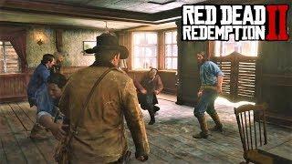 RED DEAD REDEMPTION 2 - ДРАКА В БАРЕ