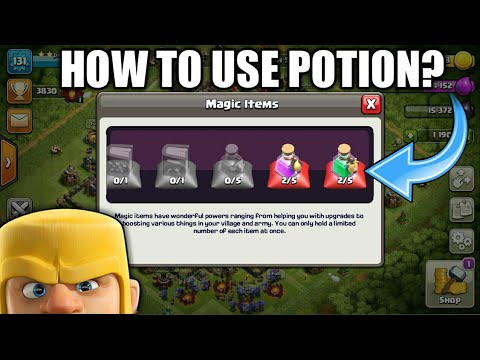 HOW TO USE POTION IN CLASH OF CLAN